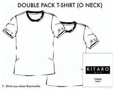 # 2erPack Kitaro O-Neck T-Shirt 68903 3-4,6-7+10XL
