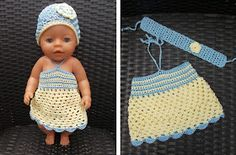 Jurkje voor Baby Born pop / dress for Baby Born doll Newborn Hats, Baby Girl Newborn, Baby Knitting, Crochet Baby, Baby First Outfit, New Baby Pictures, Disney Baby Clothes, Knit Baby Dress, Newborn Christmas
