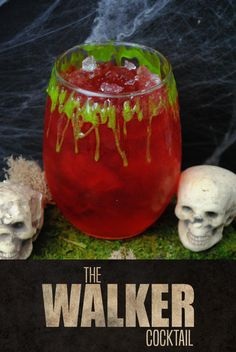 The Walker (The Walking Dead Inspired Cocktail) The Walker – a cherry vodka cocktail inspired by AMC's The Walking Dead – Cocktails and Pretty Drinks Alcohol Drink Recipes, Vodka Drinks, Cocktail Drinks, Alcoholic Drinks, Beverages, Liquor Drinks, Healthy Alcohol, Game Cocktail, Halloween Parties