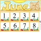 Free June Calendar Set includes month and number cards...