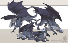 Mirror Dragons by ~neondragon on deviantART