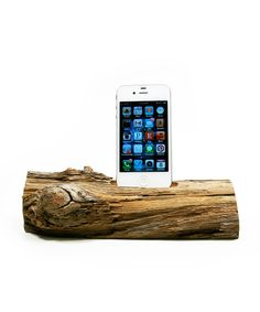Modern Driftwood iPhone Dock #upcycled #natural