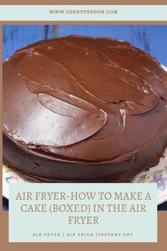 Air Fryer Cake Recipes, Box Cake Recipes, Air Fryer Recipes Easy, Brownie Recipes, Real Food Recipes, Dessert Recipes, Fried Cake Recipe, Apple Hand Pies, Air Fried Food