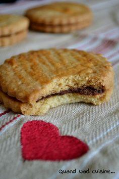 Biscuits princiers fourrés au chocolat ou à la vanille