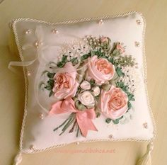 Pembe inci Yüzük Yastığı - Ring pillow