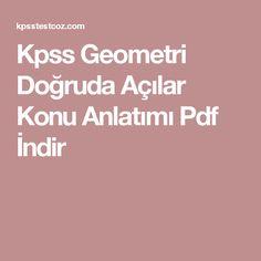 Kpss Geometri Doğruda Açılar Konu Anlatımı Pdf İndir