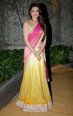 Kajal Aggarwal Gorgeous In Saree #KajalAgarwal #FoundPix