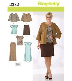 Simplicity Pattern 2372AA 10-12-14-1-Simplicity Misses