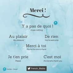 Ways of responding to 'thank you'... #learnfrench