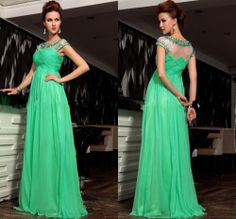 2014 Sexy Green Formal Prom Dress Ball Gown Party Evening Dresses Plus Size
