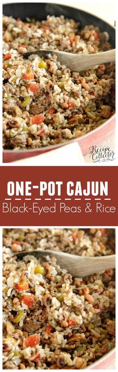 One-Pot Cajun Black-Eyed Peas & Rice - A delicious easy super packed full of Cajun flavor.