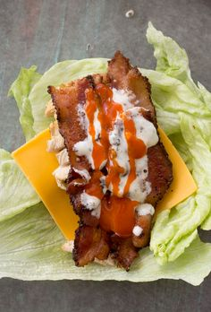 This easy Keto Buffalo Chicken Lettuce Wrap is loaded with sharp cheddar cheese, crispy bacon, grilled chicken and a heavy dose of tangy buffalo sauce! Less than three net carbs per wrap! Easy Lettuce Wraps, Buffalo Chicken Lettuce Wraps, Chicken Wraps, Low Carb Recipes, Cooking Recipes, Healthy Recipes, Healthy Meals, Budget Recipes, Snacks Recipes