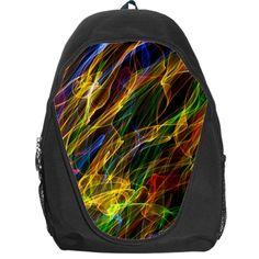 Abstract Smoke Backpack Bag