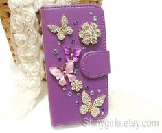 Samsung S3 case Samsung Note 3 case Bling Wallet by Shinygirls, $10.99
