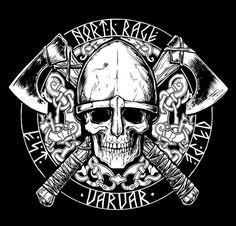 The Viking Minuteman - Norse Tattoo, Celtic Tattoos, Viking Tattoos, Norse Pagan, Norse Mythology, Viking Art, Viking Symbols, Thor Vs Odin, Skull Tattoos