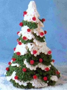Vintage Crochet Pattern Christmas Tree Holiday Decorations