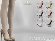 The Sims Resource: Crala shoes by MJ965 • Sims 4 Downloads