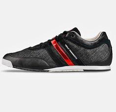 Y-3 Mens Boxing Low Top Denim Sneakers - Pugilist Prize Fighter Inspired Footwear Denim with Suede Metallic Effect Leather Canvas - Yohji Yamamoto x Adidas - 2014 Spring Summer Fashion Made in Denim Style Finds
