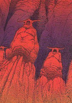 Trading cards - Moebius (collector cards) - The Hyperspace Gods Jean Giraud Moebius, Moebius Art, Moebius Comics, Baphomet, Dark Fantasy, Fantasy Art, Heavy Metal Art, Collector Cards, Science Fiction Art