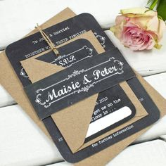 Our chalkboard wedding invitations have been added following the popularity of our chalkboard save the dates!Once an order has been placed we'll get in touch via your 'order enquiry' to get all your information for the invitation and RSVPs so we can create a digital proof of your stationery. The information we'll need includes all the details that are on the design you've chosen. Please get in touch via the 'ask seller a question' button to find out more prior to ordering. Pricing is as…