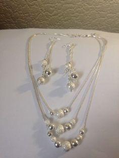 Silver  Choker Necklace  Earrings Set Mothers Day Jewellery Gift | eBay