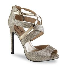Qupid Junior's Glee Gold Stiletto Shoes from Sears, on sale for $25