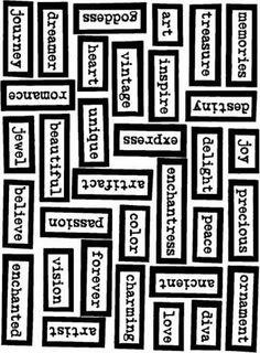 Describing Me Scrapbook Quotes, Scrapbook Journal, Scrapbook Paper, Scrapbooking, Word Collage, Collage Sheet, Bullet Journal Ideas Pages, Junk Journal, Etiquette Vintage