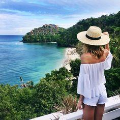 Overlooking pristine private beach