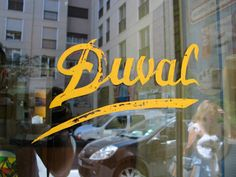 I Love Vintage Hand Painted Typography, signage on shop window, window decals, branding, typography