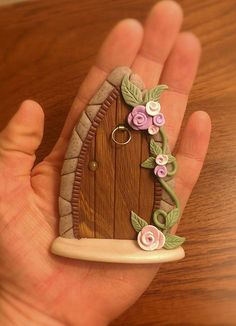 Polymer Clay Tooth Fairy Door by ThePolymerClayhouse on Etsy, $18.50