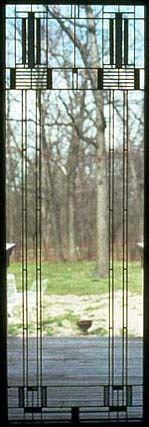 Window. Ward W. Willits House 1901. Highland Park, Illinois.Prairie Style. Frank Lloyd Wright