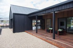 Thinking About Building?Contact us to setup an initial ideas planning meeting Phone 07 839 5570 Send a Message Metal Building Homes, Metal Homes, Building A House, House Cladding, Shed Homes, Metal Buildings, Modern House Design, Black House, House Colors