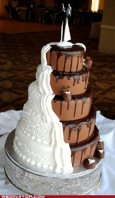 Chocolate and Vanilla wedding cake