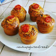 /muffins-sales-thon-tomate-sans-gluten-sans-lactose Sans Gluten Ni Lactose, Picsart, Gluten Free, Breakfast, Savory Muffins, Tuna, Tomatoes, Food, Kitchens