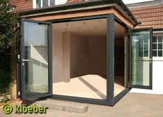 Garden Decking Designs Folding Doors 26 Ideas For 2019 Bifold Doors, House Extension Design, Corner Door, Small Sunroom, Home Additions, Garden Room Extensions, Folding Doors