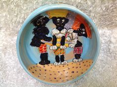 Dog Bowl / Hand Painted / Schnauzer / Ceramic / Custom Dog / Dog Pottery / Debby Carman / Faux Paw Productions by FauxPawProductions on Etsy