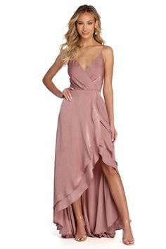 Ella High Low Formal Wrap Dress - Ella Mauve High Low Formal Wrap Dress Source by hugopontius - Different Dresses, Simple Dresses, Elegant Dresses, Casual Dresses For Women, Multiway Bridesmaid Dress, Mauve Dress, Dusty Rose Dress, Special Occasion Outfits, Prom Dresses