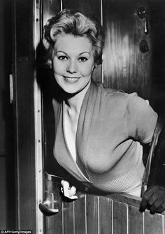 Fresh faced: Kim was a natural beauty in the 1950s.........  This is how most older people remember Kim Novak.   B.