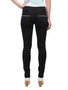 5a91715d86b Allee Jeans Women s Distressed Black Mid-Rise Skinny Jeans (Capucine)   fashion