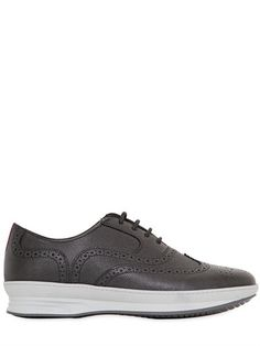 $332, Salvatore Ferragamo Marlow Embossed Leather Brogue Shoes. Sold by LUISAVIAROMA. Click for more info: https://lookastic.com/men/shop_items/374955/redirect