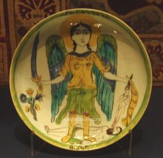 Kutahya Plate Archangel Michael 1718 V London UK