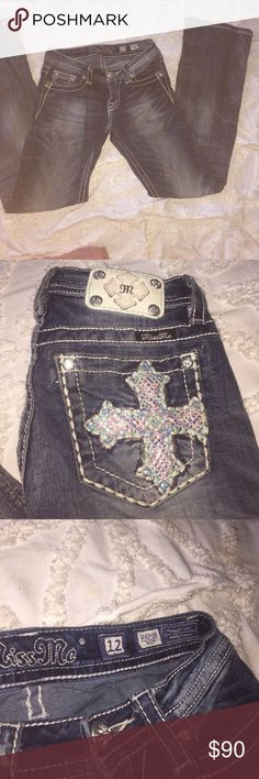 miss mes bootcut medium wash miss mes. love these but they dont fit me anymore. they are a size 12 in girls and they fit me when i was sizes 00-1. always make offers (: Miss Me Jeans Boot Cut