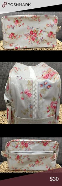 Selling this Cath kidston white Floral travel bag on Poshmark! My username is: chic_gem. #shopmycloset #poshmark #fashion #shopping #style #forsale #cath kidston #Handbags