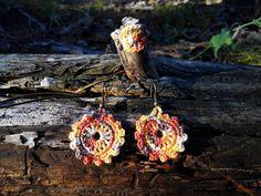 Horgolt ékszerszett  Mirtusz : Őszi-erdő ékszerek Crochet Earrings, Jewelry, Jewlery, Jewerly, Schmuck, Jewels, Jewelery, Fine Jewelry, Jewel