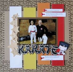 taekwondo scrapbook layouts | Scrapbook & Cards Today Blog: Making wood veneer die cuts...and a ...