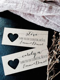 Place Cards Wedding Place Cards Wedding Name by LaPommeEtLaPipe