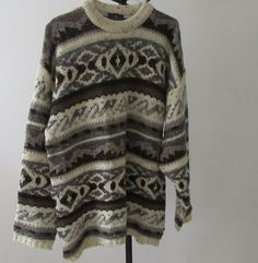 Size 16/18 River Island Pure Wool Long Jumper. Unisex Jumper. Hipster. Bo Ho Long Jumpers, Jumpers For Women, Tunic Sweater, Men Sweater, Bo Ho, River Island, Size 16, Retro Vintage, Vintage Outfits