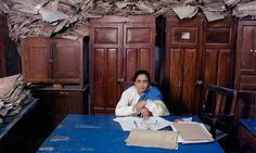Photographer Jan Banning from his book and series Bureaucratics. This image: Sushma Prasad, assistant clerk at the Old Secretariat in the Bihar state capital, Patna, India. More images and a book preview here: http://www.janbanning.com/gallery/bureaucratics/ Fascinating. The power of (or lack of power of) the desk as global object.