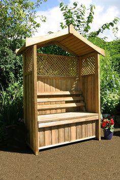 Wooden Arbour Garden Bench with Storage Box in Garden & Patio, Garden & Patio Furniture, Benches   eBay