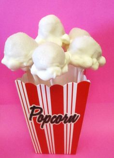 Popcorn Cake Pops. Adorable!